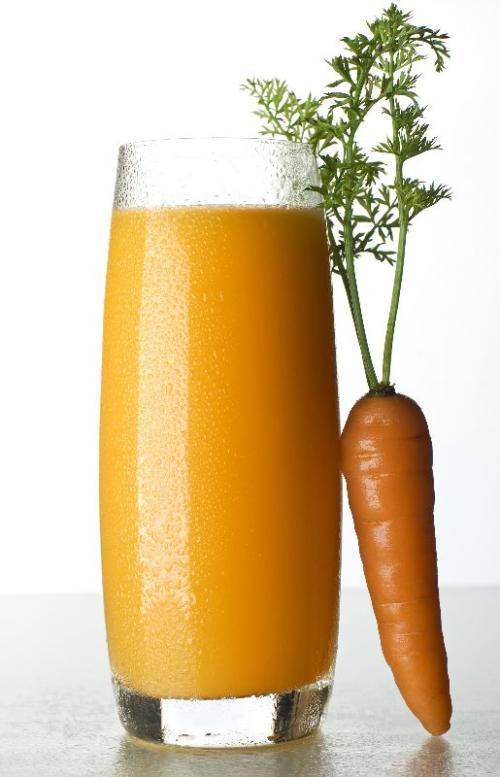 Surowy sok z marchwi