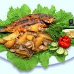 Ryba smażona z grzybami