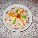 Sałatka z wędzonym kurczakiem i czerwoną fasolą