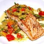 Ryba duszona w warzywach mieszanych